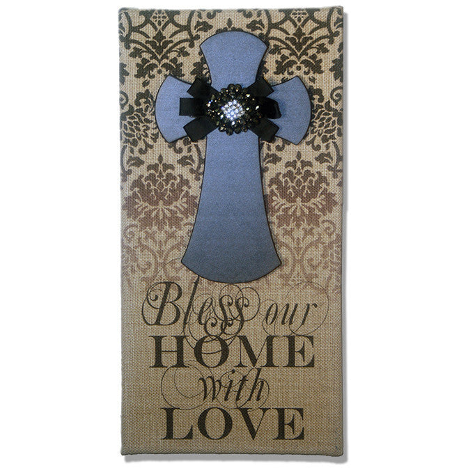 Bless Our Home Printed Burlap