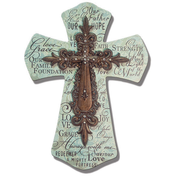 Names Of Jesus Layered Wall Cross