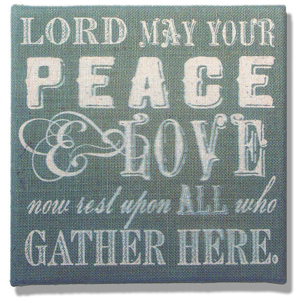 Lord May Your Peace Printed Burlap