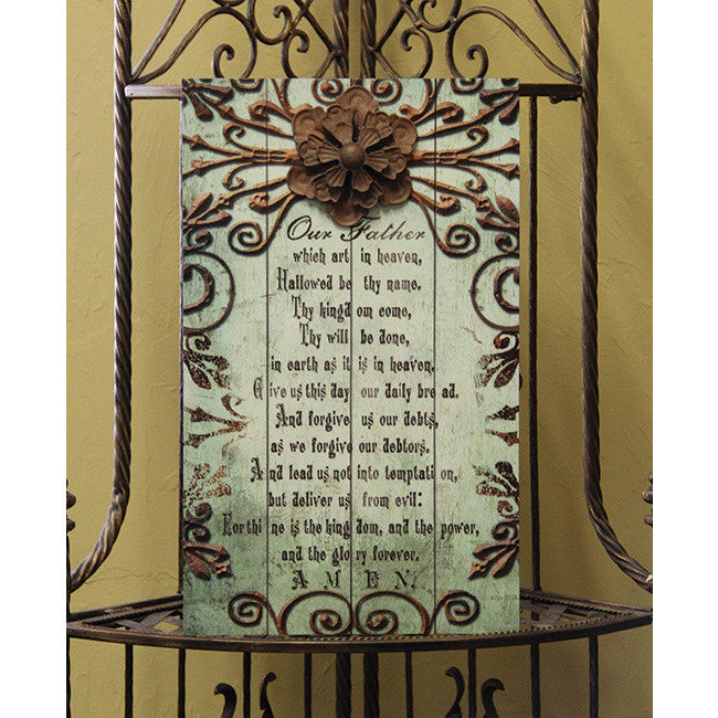 Our Father Slat Plaque Bella Casa