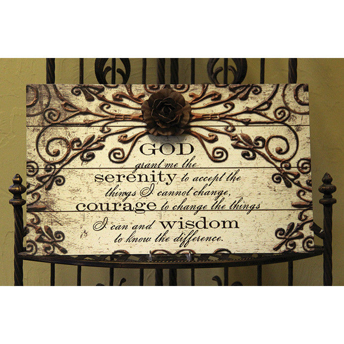 Serenity Prayer Slat Plaque Bella Casa