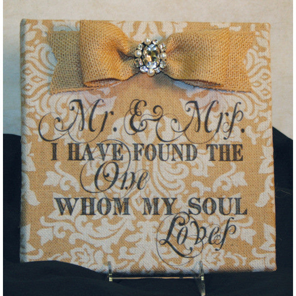I Found The One Printed Burlap