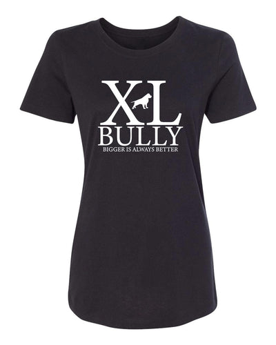 XL Bully Womens Crew Neck Tee - BGM Warehouse - The Best Bully Breed Magazines, Clothing and Accessories