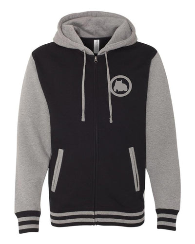 BG Hooded Varsity Zip Up