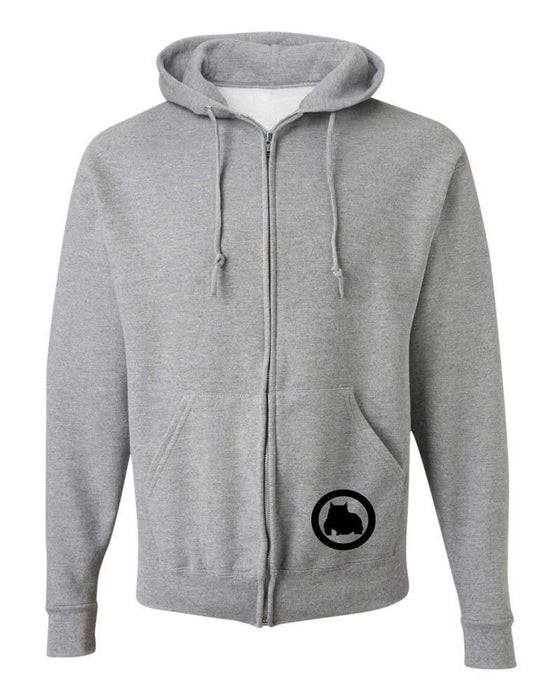 BGM Men's Athletic Bully Breed Zip Up Hoodie