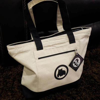 Bully Girl Canvas Zipper Tote Bag