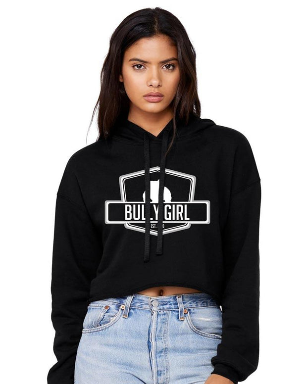 Bully Girl Cropped Fleece Hoodie