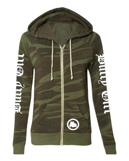 Bully Girl Ladies Eco Fleece Zip Up - Camo