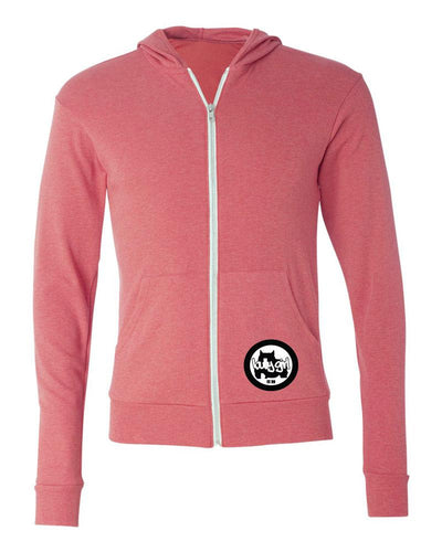 Bully Girl Lightweight Full-Zip Hooded Long Sleeve Tee - BGM Warehouse - The Best Bully Breed Magazines, Clothing and Accessories