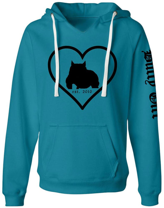 Bully Girl Love Sueded V-Neck Hoodie