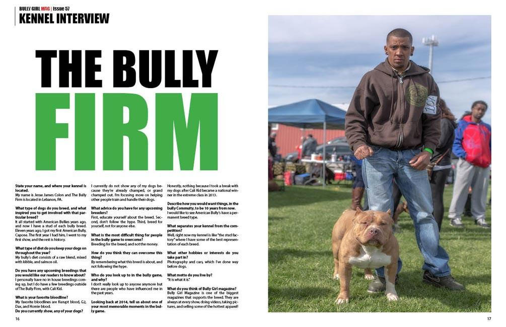 The Bully Firm Interview inside Bully Girl Magazine