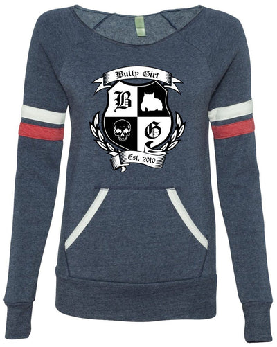 Bully Girl Sporty Eco-Fleece Sweatshirt - BGM Warehouse - The Best Bully Breed Magazines, Clothing and Accessories