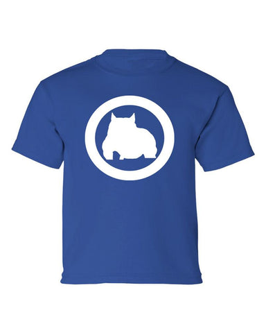 Kids Royal Blue Bully Athletic Fit Tee