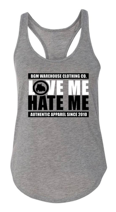 Love Me Hate Me Women's Tank Top - BGM Warehouse - The Best Bully Breed Magazines, Clothing and Accessories