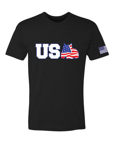 BGM® Men's Red White and Bully T-Shirt - BGM Warehouse - The Best Bully Breed Magazines, Clothing and Accessories