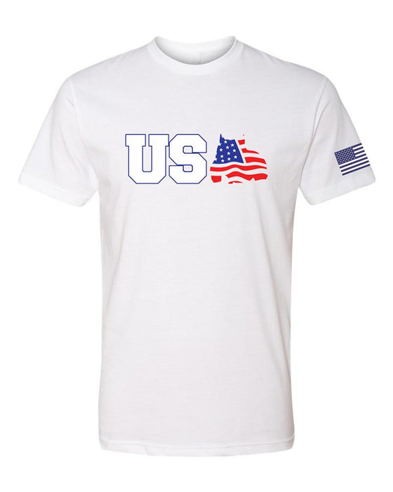 BGM® Men's Red, White & Bully T-Shirt