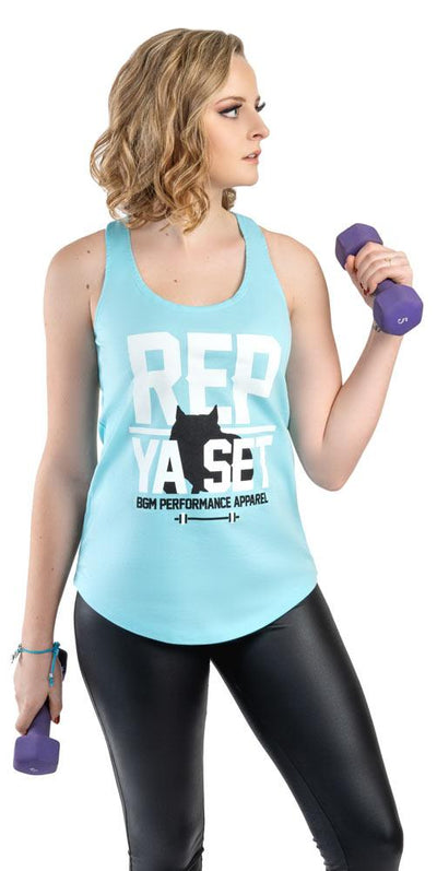 Rep Ya Set Women's Performance Tank - BGM Warehouse - The Best Bully Breed Magazines, Clothing and Accessories
