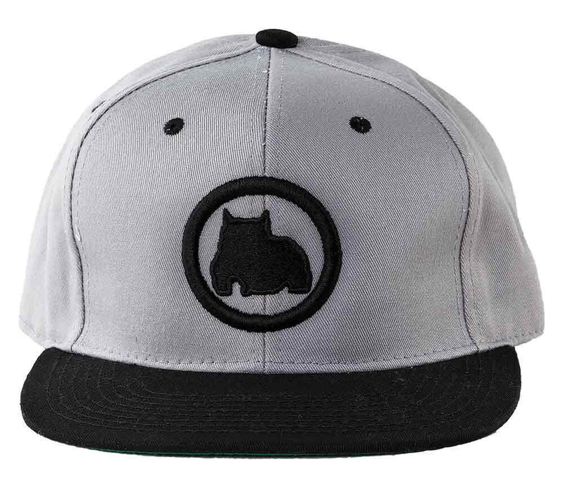 BGM Bully Breed Snapback Cap in Gray and Black