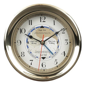 Nautical Tide Clock in Brass