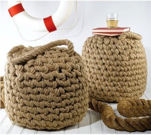 Nautical Ottoman Rope