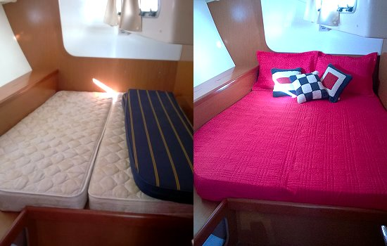 Starboard Stateroom before after