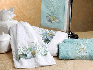 Coral and Shells Towels
