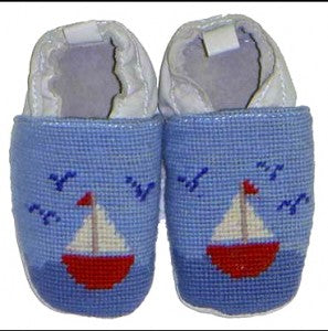 Needlepoint Baby Slippers