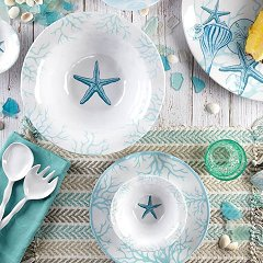 non-breakable dinner plates coastal nautical theme