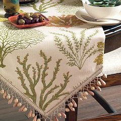 Coastal theme table runner