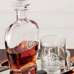 NAUTICAL GLASSES and decanters, coastal wine glasses and barware