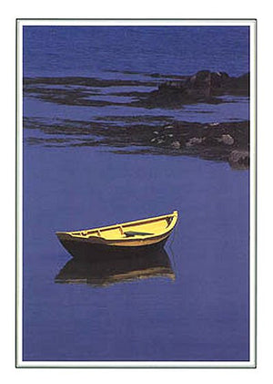 Yellow Dinghy Blank Note Cards - Nautical Luxuries