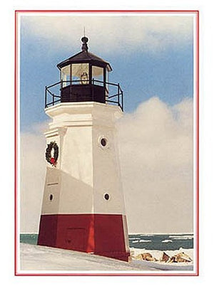 Vermilion Lighthouse Holiday Cards - Nautical Luxuries