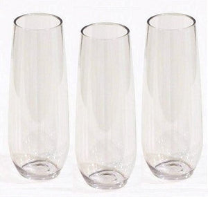 Non-Breakable Connoisseur Stemless Flutes - Nautical Luxuries