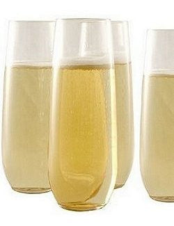 Non-Breakable Connoisseur Stemless Flutes