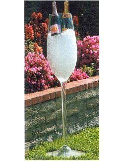 Grande Floor-Standing Champagne Flute Acrylic Ice Bucket - Nautical Luxuries