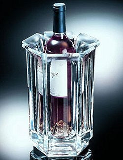 Flared Edge Heavy-Weight Acrylic Wine Chiller - Nautical Luxuries