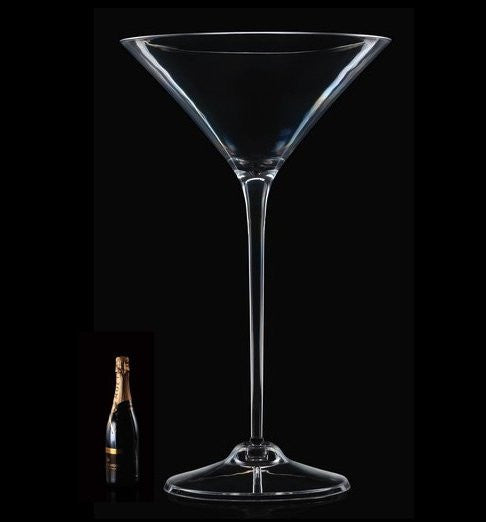 Grande Floor-Standing Martini Glass Acrylic Ice Bucket