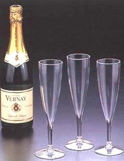 Classic Acrylic Champagne Flute Set