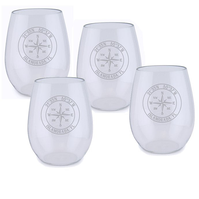 Custom Location Acrylic Tumbler Set - Nautical Luxuries