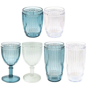 Water Beads Polycarbonate Wine Glasses - Nautical Luxuries