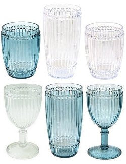 Water Beads Polycarbonate Wine Glasses