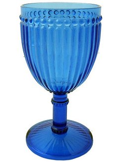 Cobalt Water Beads Polycarbonate Wine Glasses - Nautical Luxuries