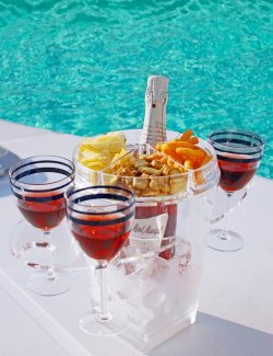 Acrylic Ice Bucket & Glass/Snacks Holder - Nautical Luxuries