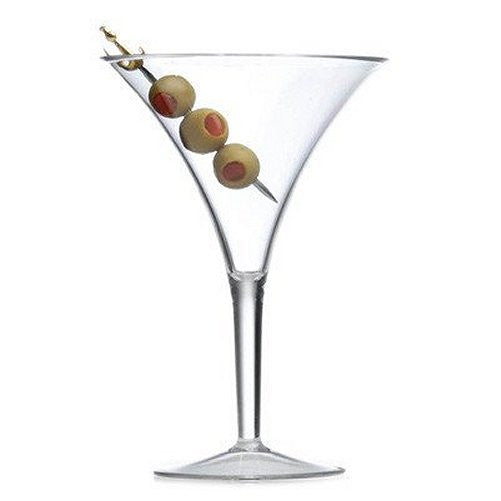 Golden Age Flared Acrylic Martini Glasses