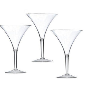 Golden Age Flared Acrylic Martini Glasses - Nautical Luxuries