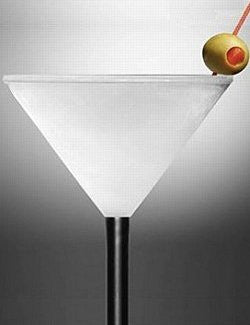 Freezer Chill Layer Acrylic Martini Glasses