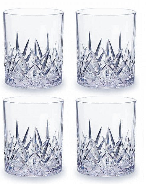 Crystal Cut Acrylic Barware
