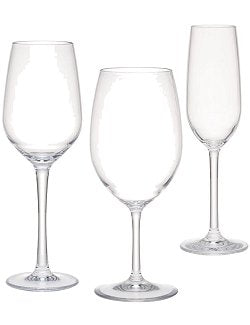 Delicato Clear Acrylic Glasses - Nautical Luxuries