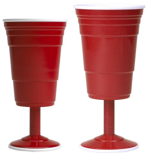 Sailor's Favorite Red Cup Hard Wine Glasses - Nautical Luxuries