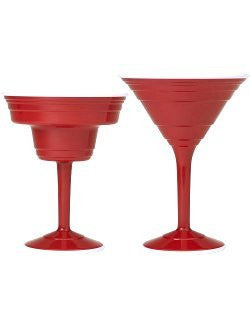 Sailor's Favorite Red Cup Hard Cocktail Glasses - Nautical Luxuries